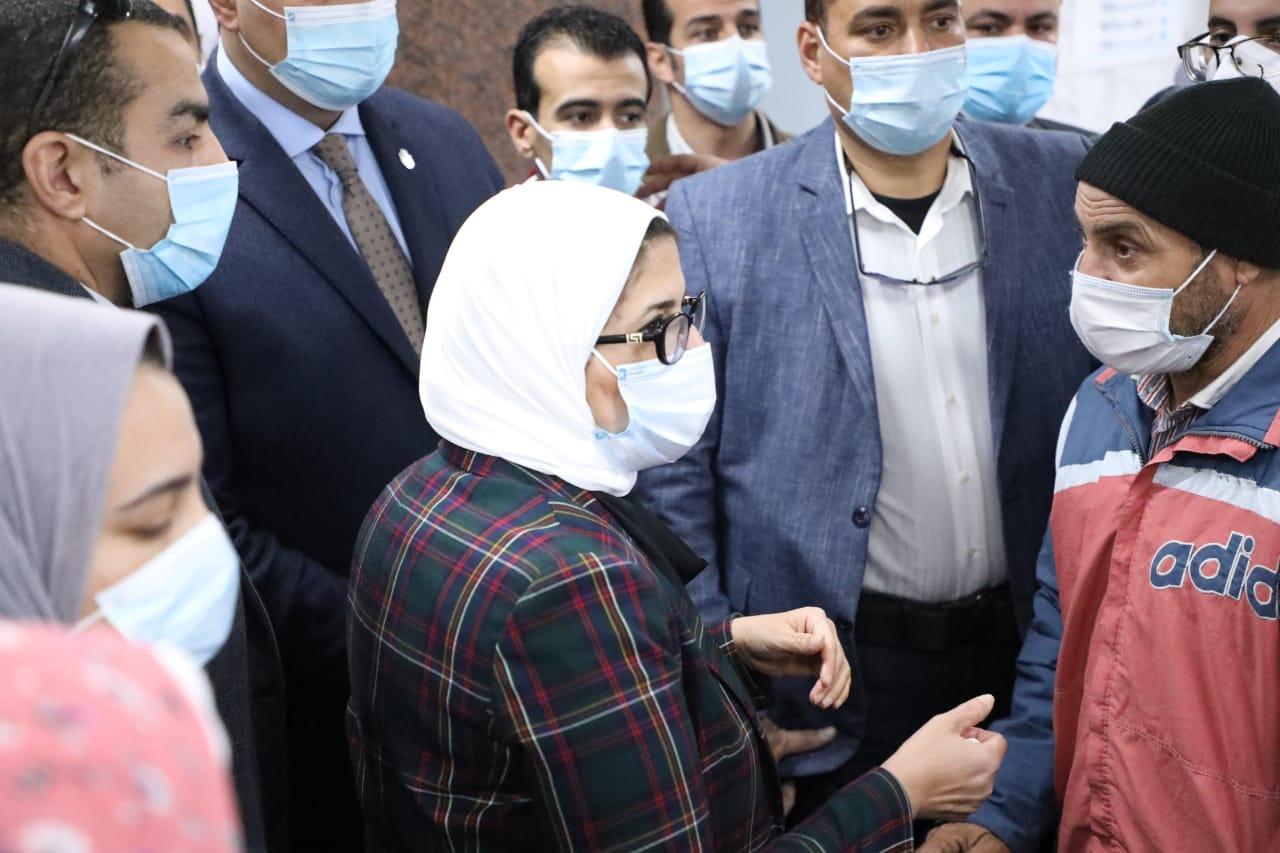 وزيرة الصحة تتحدث للمواطنين