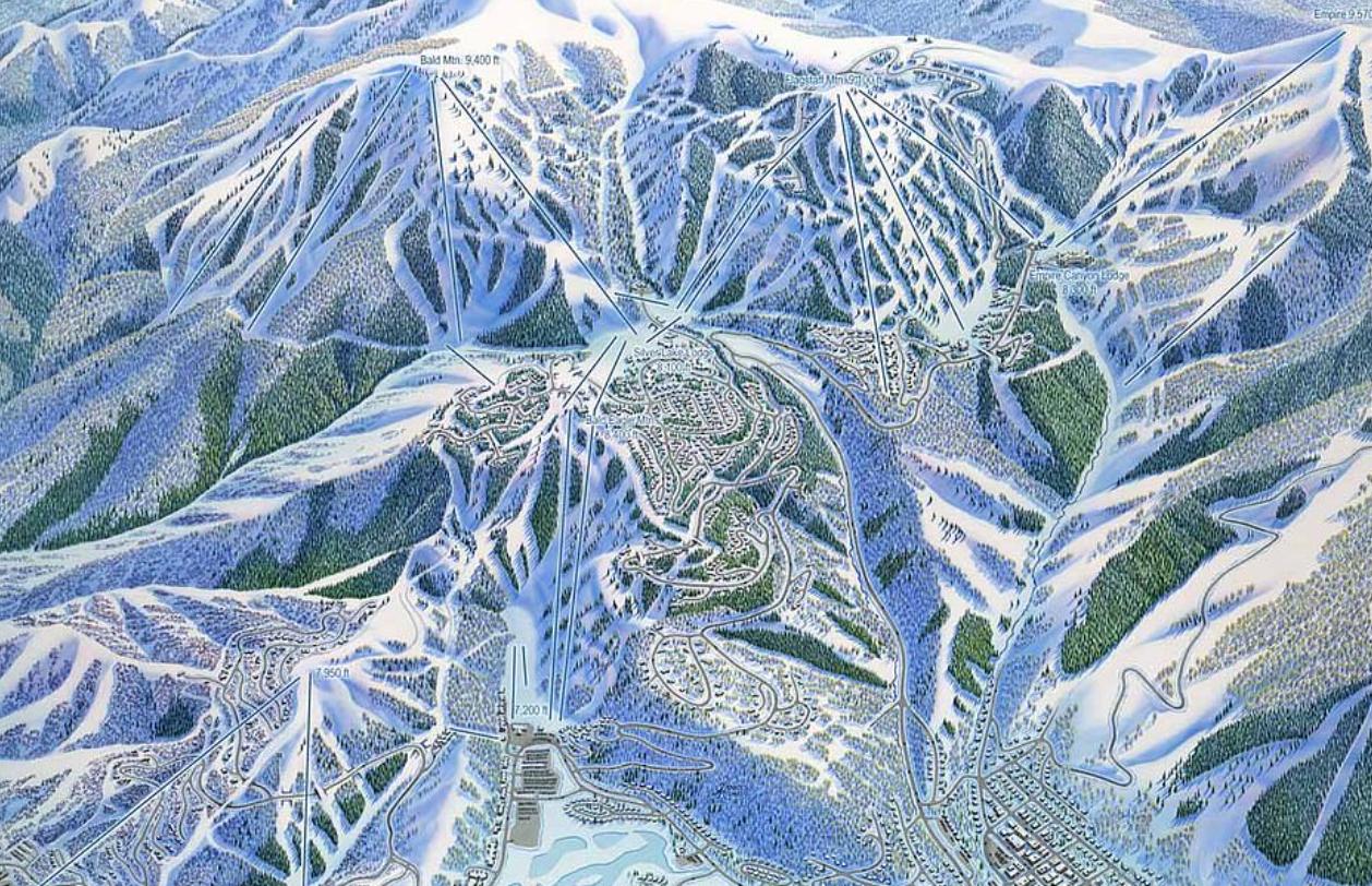 لوحة لأحد منتجعات التزلج