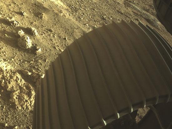 جانب من الهبوط على سطح المريخ