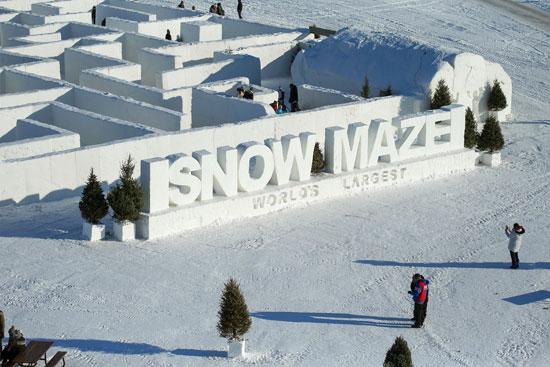 المتاهة الثلجية في كندا