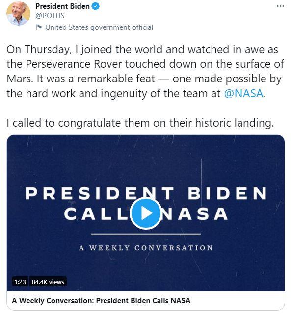 جو بايدن عبر تويتر