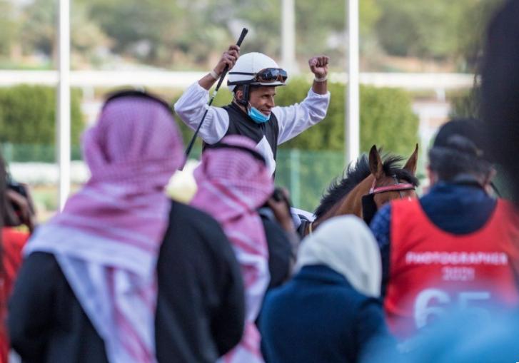 جانب من سباق الخيول في السعودية