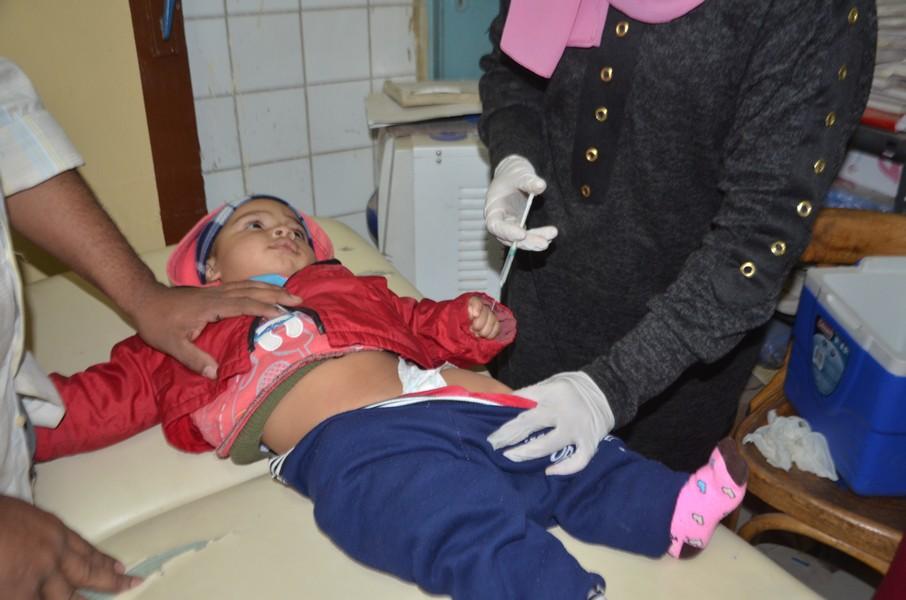 حملات التطعيم ضد شلل الاطفال