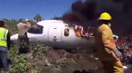 حطام الطائرة المكسيكية