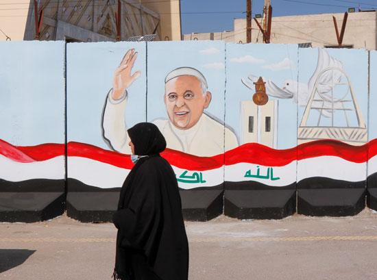 استقبال بابا الفاتيكان فى العراق (11)