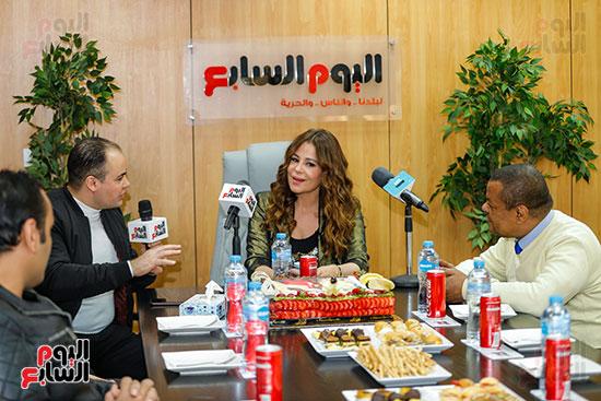 كارول سماحة فى حوارها لتليفزيون اليوم السابع مع عمرو صحصاح