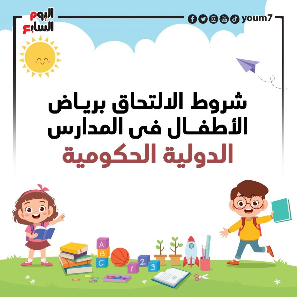 شروط الالتحاق برياض الأطفال فى المدارس الدولية الحكومية