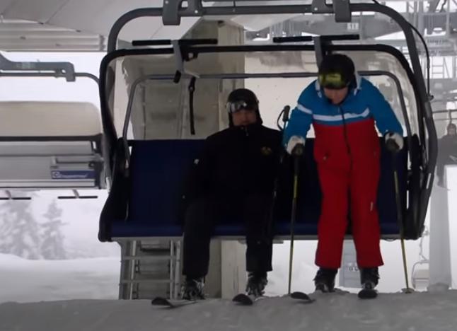 الرئيسان يتزلجان على الجليد