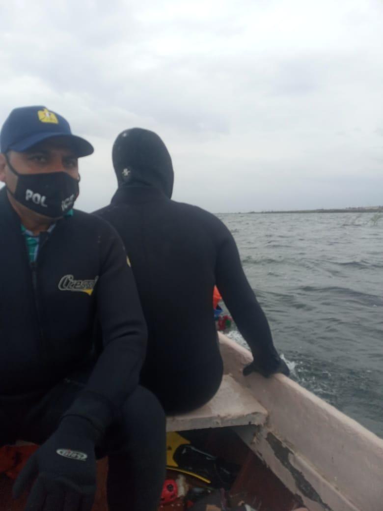 اعمال الانقاذ ببحيرة مريوط