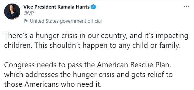 كامالا هاريس على تويتر