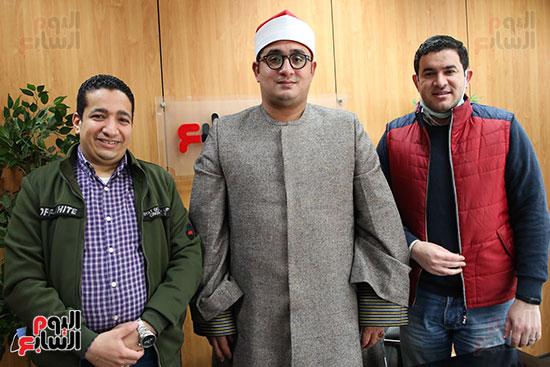 الشيخ محمود الشحات أنور مع الزميلان محمد أحمد طنطاوى وعلى عبد الرحمن