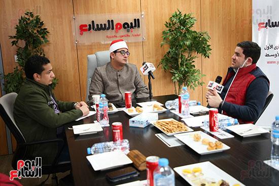 الشيخ محمود الشحات أنور فى ندوة اليوم السابع
