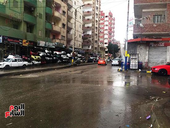 سقوط أمطار غزيرة وثلوج على الإسماعيلية (1)