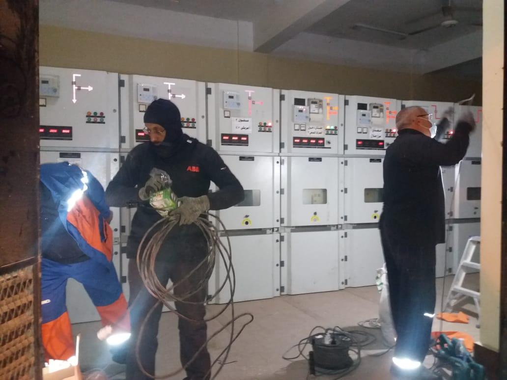اعمال الصيانة بمحطة صرف ابو عطوة
