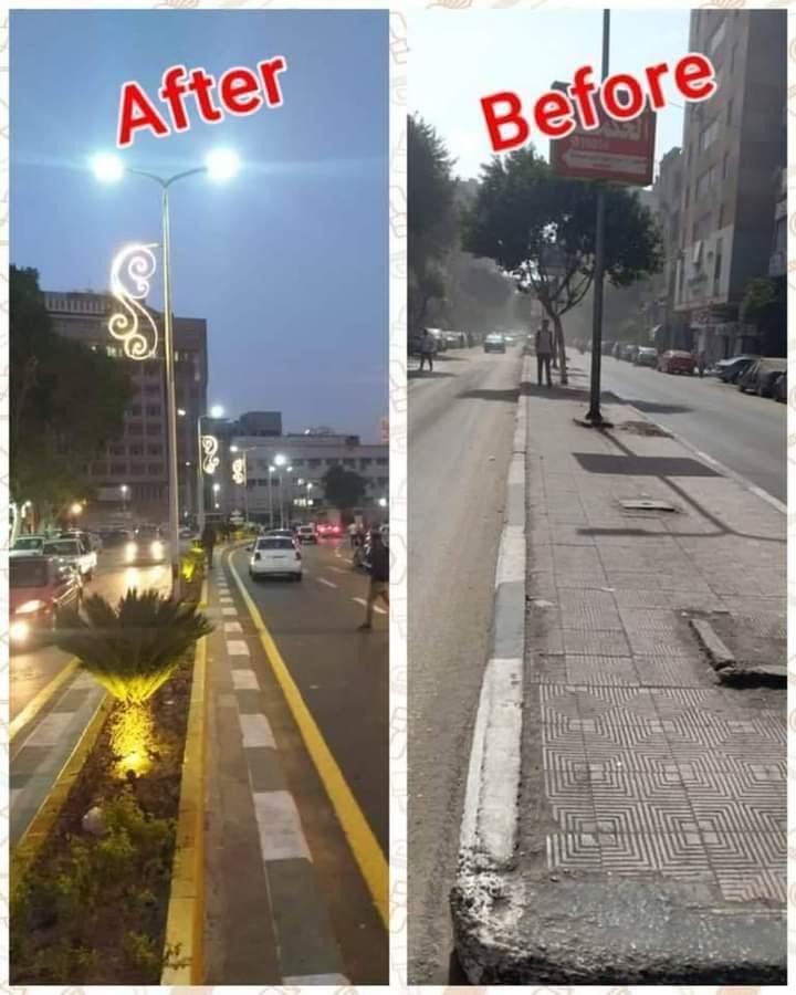 شارع المنيل قبل وبعد التطوير