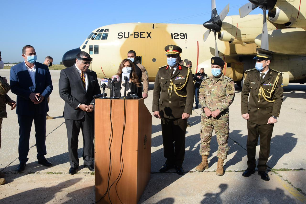 القوات المسلحة ترسل مساعدات إلى الجيش اللبناني