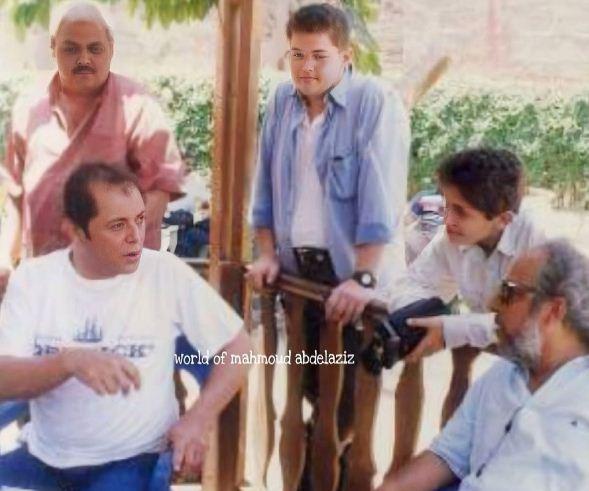 كريم محمود عبد العزيز مع والده