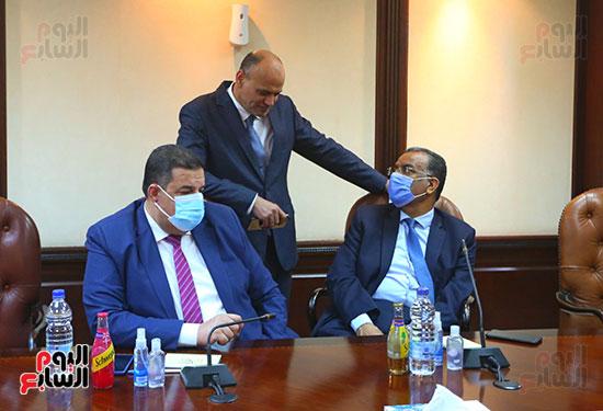 جانب من لقاء وزير الخارجية مع الأعلى للإعلام