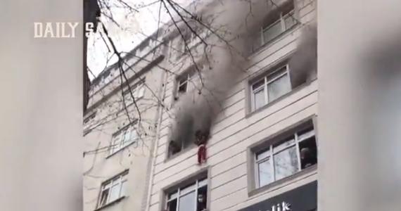 أم تلقى بأبنائها الأربعة من الطابق الثالث لإنقاذهم من حريق بإسطنبول (1)