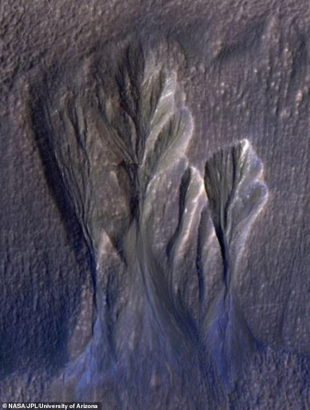 صور جليد المريخ