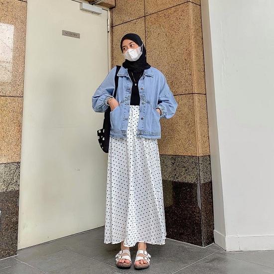 أفكار لتنسيق الحجاب مع قناع الوجه أو الكمامة  (25)