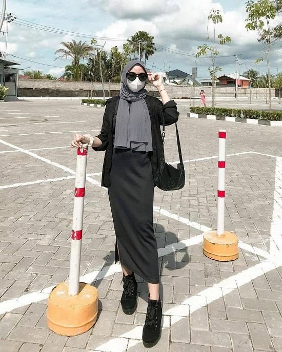 أفكار لتنسيق الحجاب مع قناع الوجه أو الكمامة  (26)
