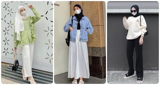 أفكار لتنسيق الحجاب مع أقنعة الوجه أو الكمامات (3)