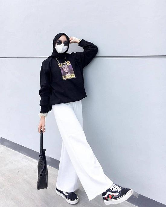 أفكار لتنسيق الحجاب مع قناع الوجه أو الكمامة  (18)
