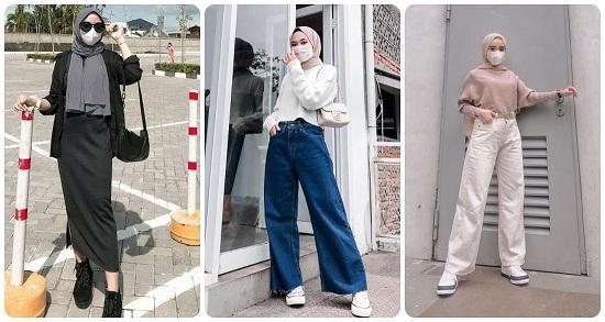 أفكار لتنسيق الحجاب مع أقنعة الوجه أو الكمامات (2)