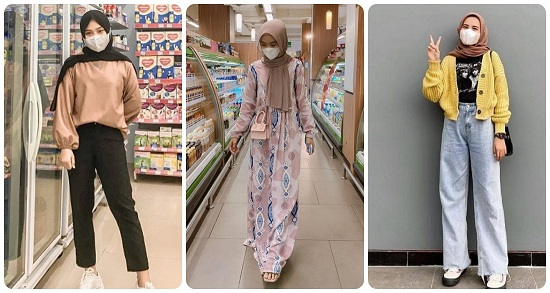 أفكار لتنسيق الحجاب مع أقنعة الوجه أو الكمامات (1)
