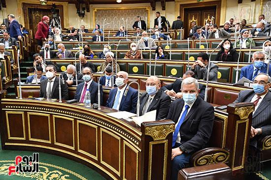 جلسة مجلس النواب برئاسة المستشار الدكتور حنفي جبالي  (4)