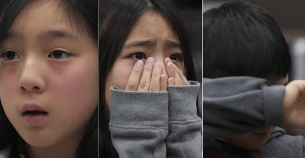 Tears of children
