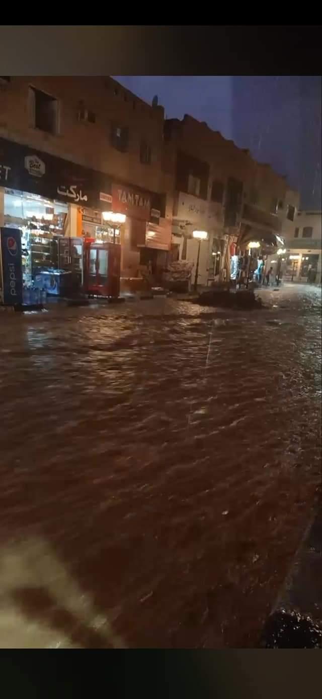 السيول تغرق مدينة شرم الشيخ  (3)