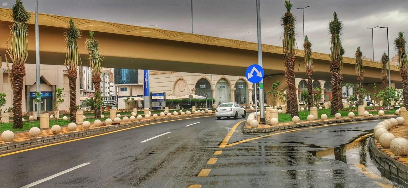 هطول أمطار غزيرة على مكة المكرمة