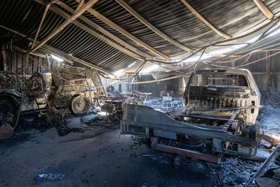 حرائق الغابات تدمر عدة منازل غرب أستراليا (1)