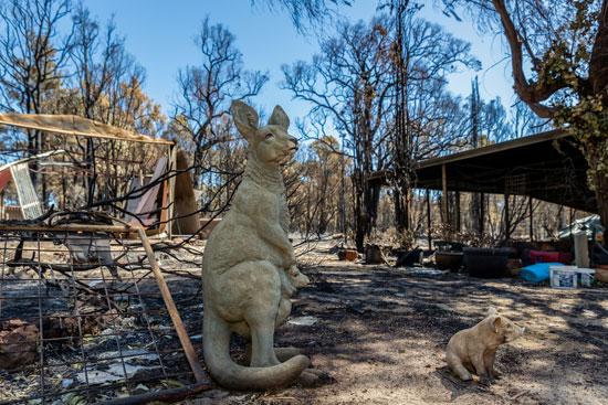 حرائق الغابات تدمر عدة منازل غرب أستراليا (3)