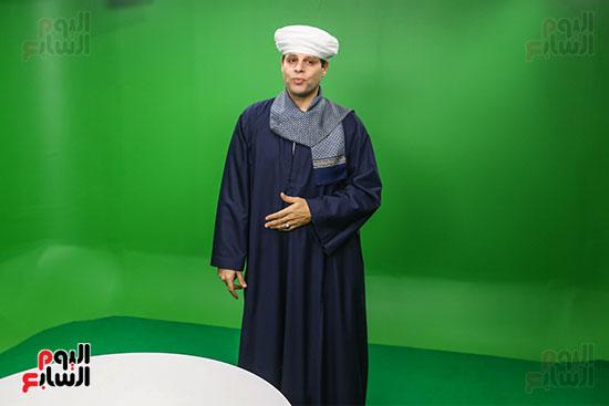 الشيخ محمود التهامى فى استوديو اليوم السابع