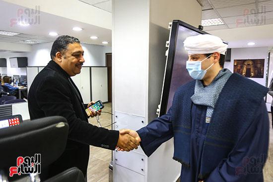 الشيخ محمود التهامى والكاتب الصحفى كريم عبد السلام