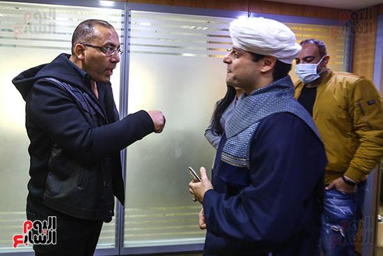 الكاتب الصحفى خالد صلاح وحديث مع الشيخ محمود التهامى نقيب المنشدين