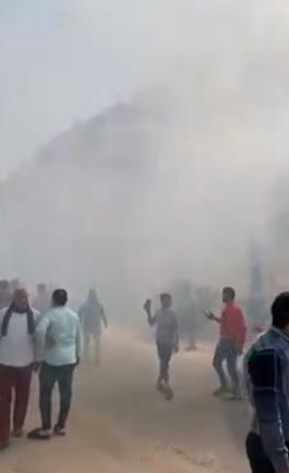 دخان كثيف من الحريق