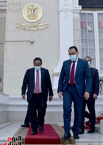 رئيس الوزراء بمؤتمر صحفى مع نظيره السودانى (3)