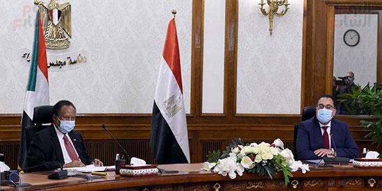 رئيس الوزراء بمؤتمر صحفى مع نظيره السودانى (4)
