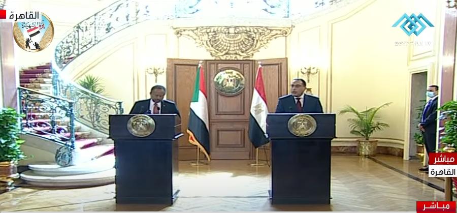 المؤتمر الصحفي بين رئيس الوزراء ونظيره السوداني