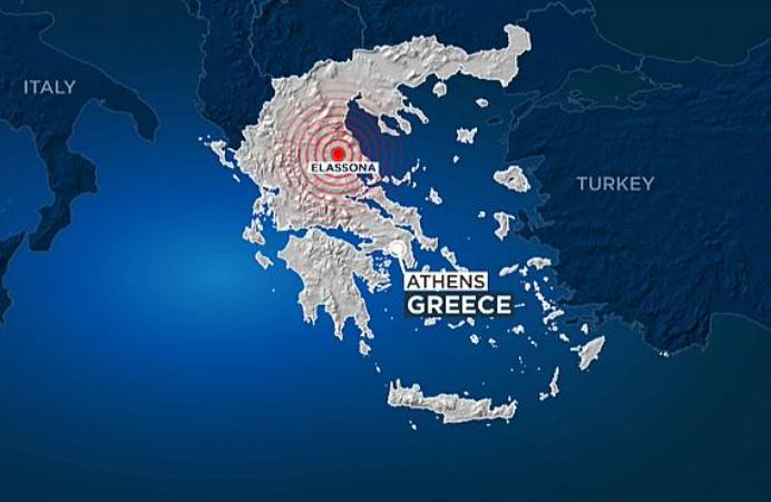 خريطة الزلزال