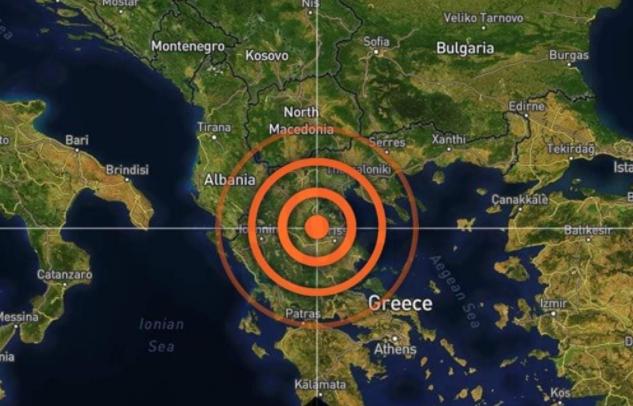عمق الزلزال في اليونان