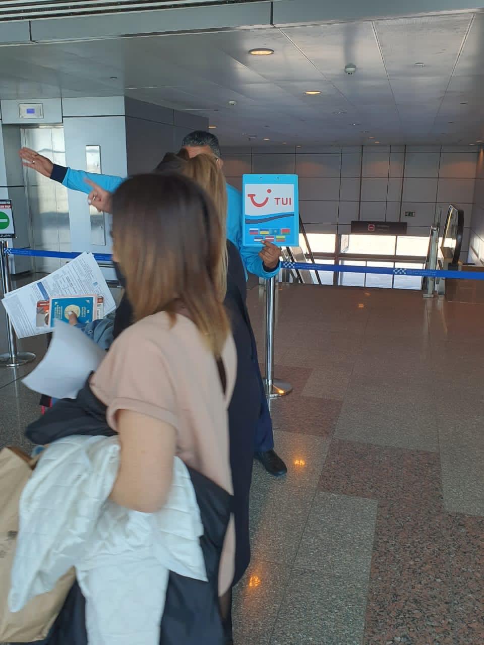 وصول اول رحلة طيران كازاخستانية (2)