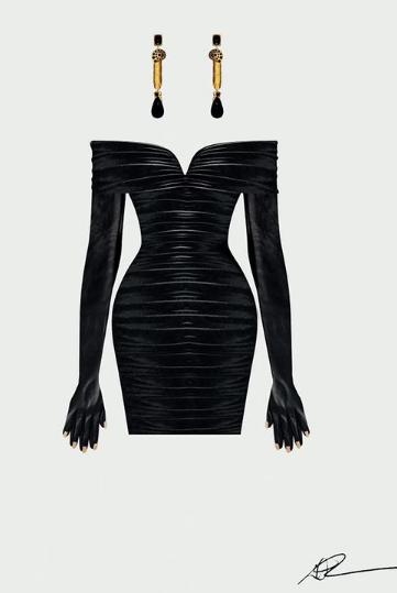 تصميم فستان بيونسيه 1