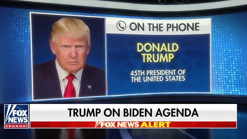 ترامب خلال مداخلة هاتفية