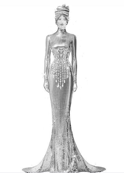 تصميم آخر لفستان بيونسيه