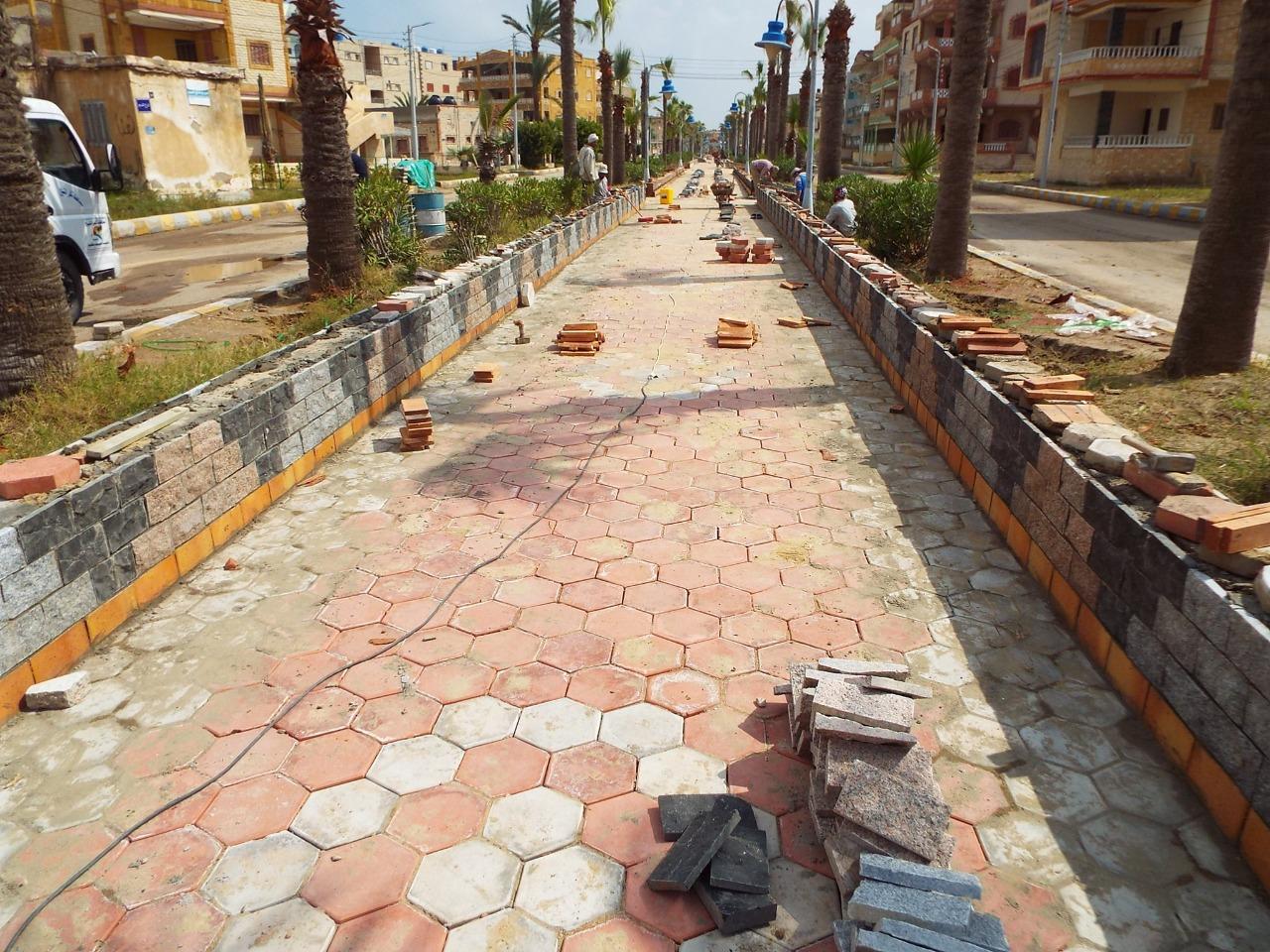 الرصف بالاترلوك بمصيف بلطيم